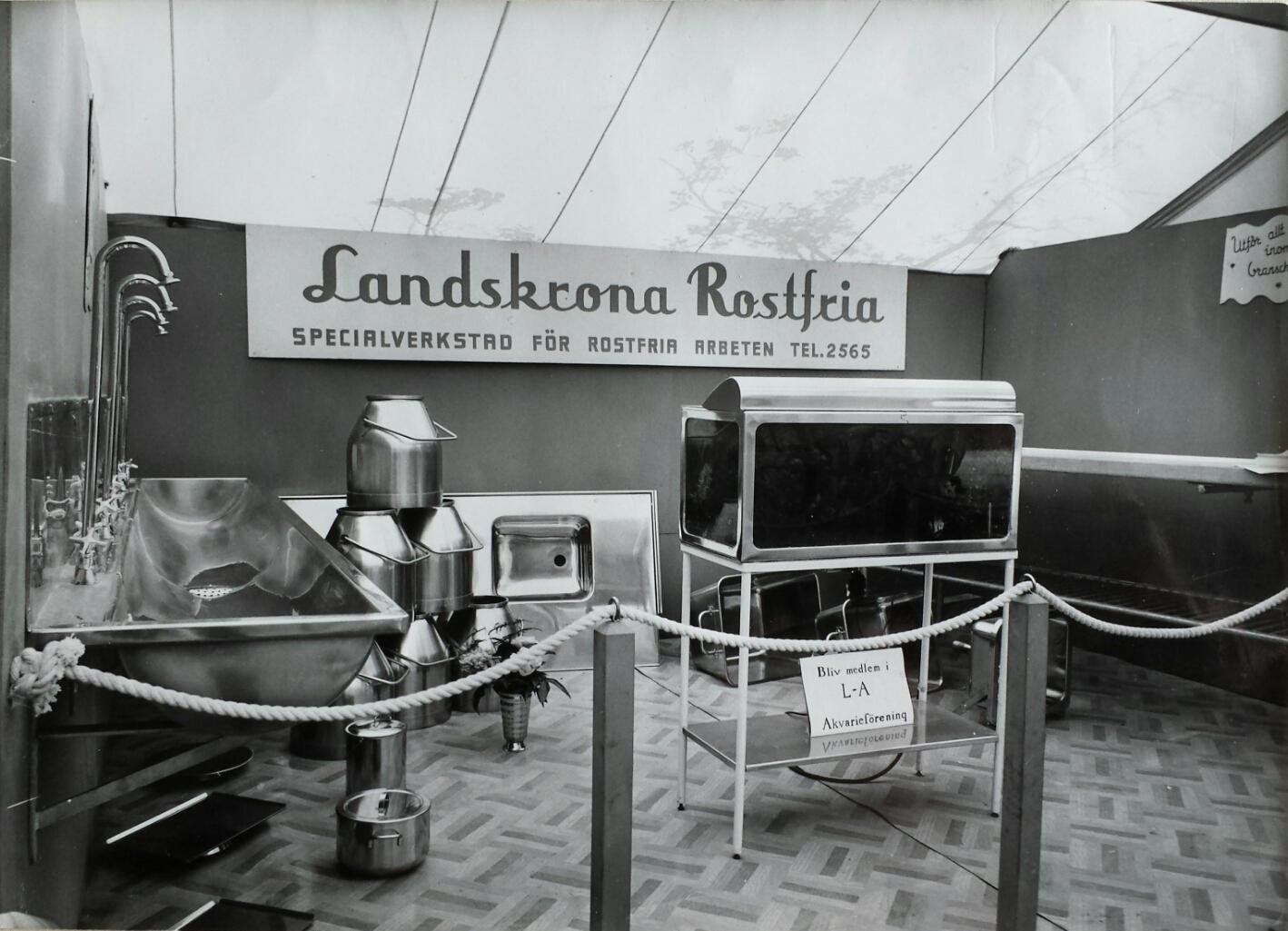 Utställning på Citadellet sent 50-tal